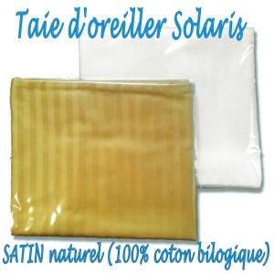 Taies d'oreillers en Satin SOLARIS 40 x 80 cm